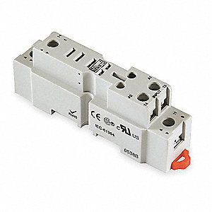 Relay Socket, Socket Type: Finger Safe, Socket Style: Square, Number of Pins: 5