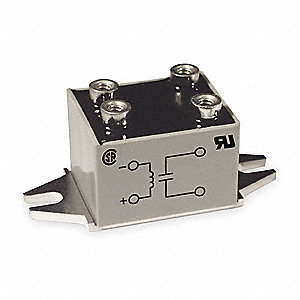 1-Pole Surface Mount Miniature Solid State Relay; Max. Output Amps w/Heat Sink: 6