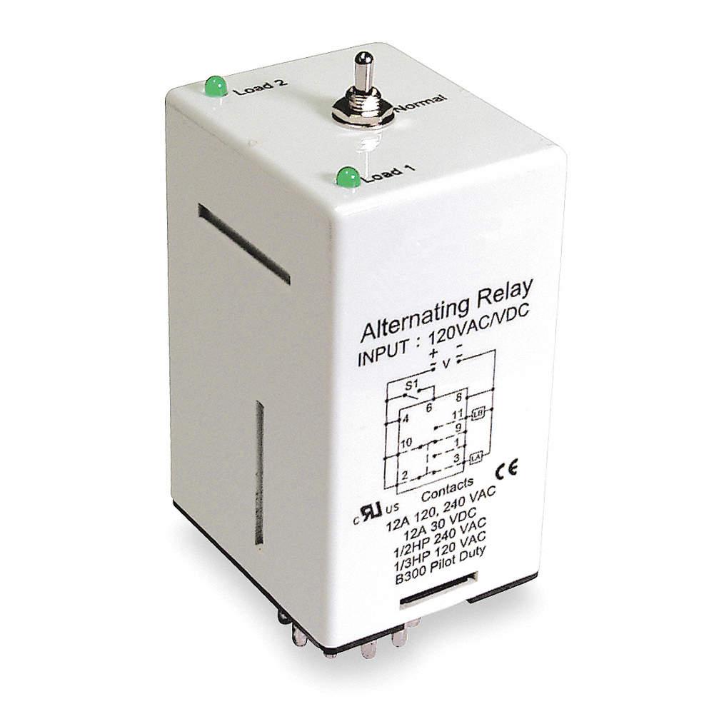 DAYTON Alternating Relay, 120VAC/DC, Octal Base Type, 8 ... on