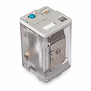 Plug-In Relay, 8 Pins, Octal Base Type, 10A @ 277VAC/28VDC Contact Rating, 12VDC Coil Volts