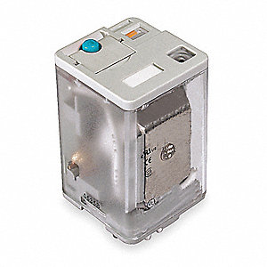 Plug In Relay, 8 Pins, Octal Base Type, 10A @ 277VAC/30VDC Contact Rating, 12VDC Coil Volts