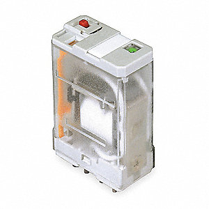 120VAC, 5-Pin Square Base General Purpose Plug-In Relay&#x3b; AC Contact Rating: 20A @ 277V
