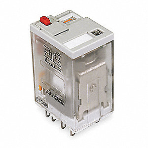 Plug In Relay, 8 Pins, 15A @ 240VAC/28VDC Contact Rating, 24VDC Coil Volts