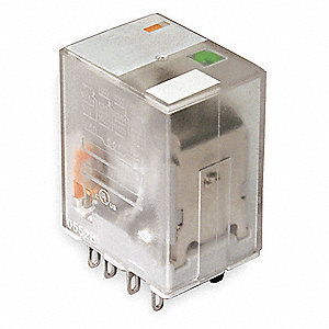 Plug-In Relay, 14 Pins, Square Base Type, 3A @ 240VAC/30VDC Contact Rating, 120VAC Coil Volts