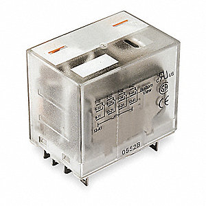 Plug In Relay,14 Pins,Square,24VDC