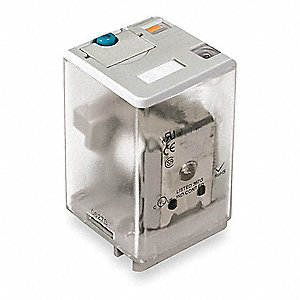 Plug In Relay, 8 Pins, Square Base Type, 10A @ 277VAC/30VDC Contact Rating, 12VDC Coil Volts