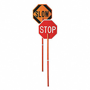 Stop/Slow Pole Mounted Paddle,Plastic