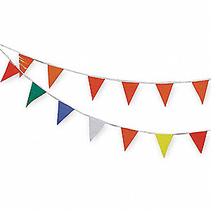 Pennants,Vinyl,Multicolor,60 ft.