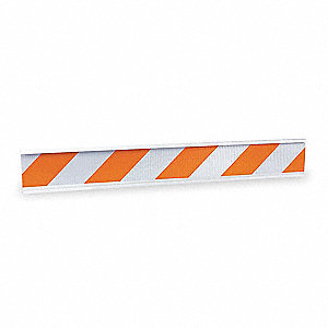 "BARRICADE BEAM, ORANGE/WHITE, 72 "" L"