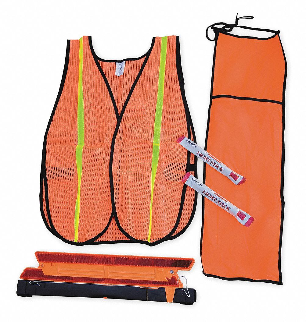 Motorist Safety Kit/Triangle, 5 Piece