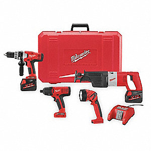 Cordless Combination Kit, 18.0 Voltage