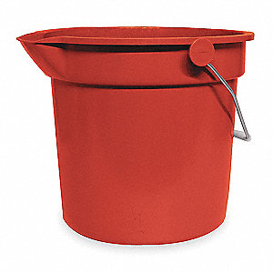 3-1/2 gal. Red Plastic Pail, 1  EA