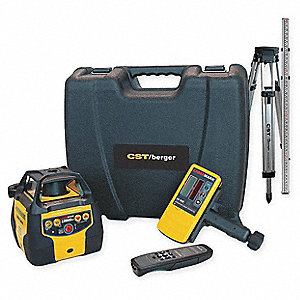 Electronic Self-Leveling Rotary Laser Level, Horizontal, Interior and Exterior