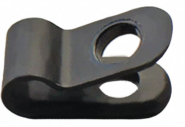 Cable Clamp,  Cable Clamp,  Nylon,  3/8 in Cable Clamping Dia.,  PK 25