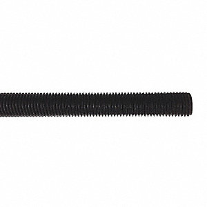 "1/4""-20x2 ft., Threaded Rod, Nylon, Not Graded, Plain"