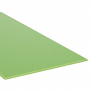 "Sheet Stock, Cast Nylon, 12""L x 12""W x  0.250"" Thick, 200 Max. Temp. (F), Green"