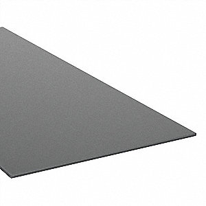 "Sheet Stock, Cast Nylon, 48""L x 12""W x  0.188"" Thick, 200 Max. Temp. (F), Black"
