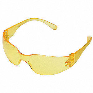 Condor™ Mini V Scratch-Resistant Safety Glasses, Amber Lens Color