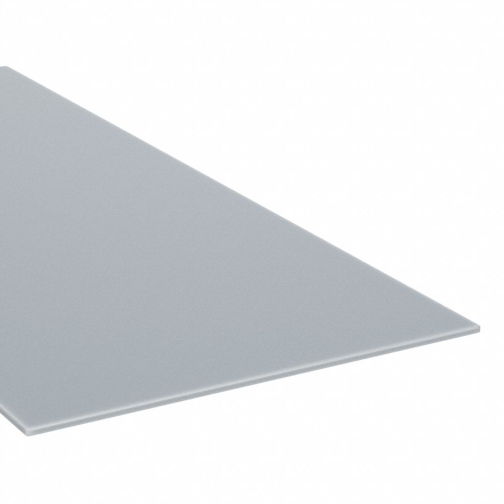 Sheet Stock, Polycarbonate, 48 inL x 48 inW x  0.118 in Thick, 270 °F Max. Temp. (F), Clear