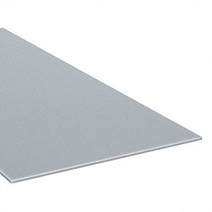 "Sheet Stock, Polycarbonate, 48""L x 48""W x  0.177"" Thick, 180 Max. Temp. (F), Gray"