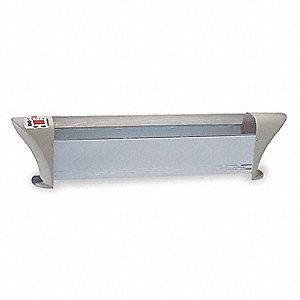 "38-7/8"" x 5-1/16"" x 9-1/16"" Convection No Electric Baseboard Heater, White/Gray, 120VAC"