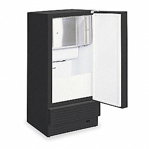 115V Square Undercounter Ice Machine, Black, 30 lb.