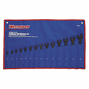 Combo Wrench Set,Black,7-20mm,14 Pc