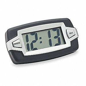 Digital Clock,Indicator,Black/Silver
