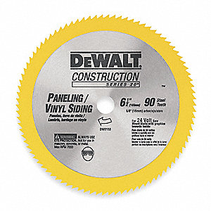 "6-1/2"" Steel Combination Circular Saw Blade, Number of Teeth: 90"