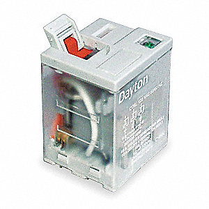 24VDC, 11-Pin Square Base General Purpose Plug-In Relay; AC Contact Rating: 15A @ 277V