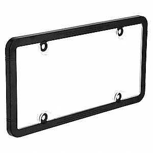 License Plate Cover,Clear/Black,Polymer