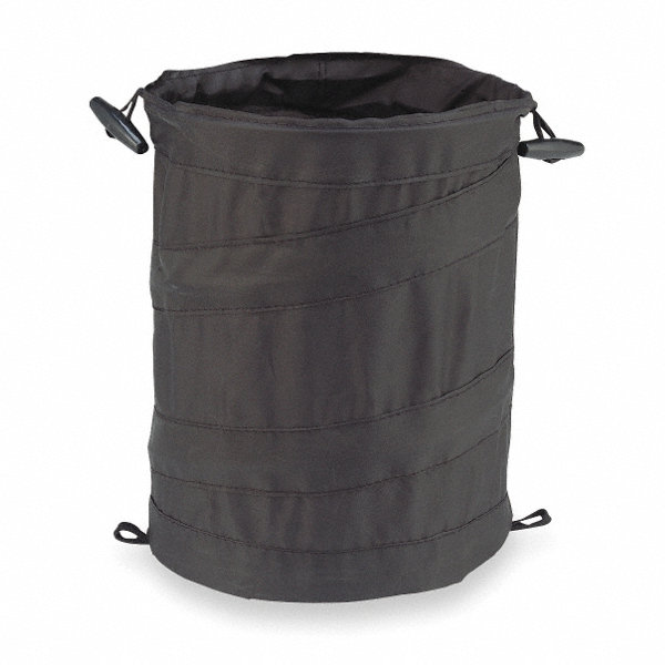 Bell collapsible trash can black 1ezc5 22 1 38996 1 grainger - Collapsible garbage can ...