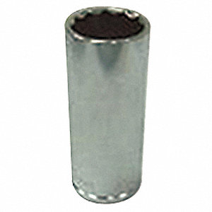 Socket,1/4 in. Dr,13mm,12 Pt.