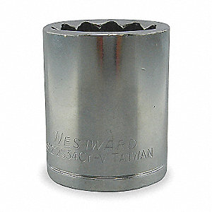 "7mm Chrome Vanadium Socket with 3/8"" Drive Size and Chrome Finish"