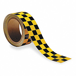 "Marking Tape, Checkered, Continuous Roll, 2"" Width, 1 EA"