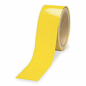 "Reflective Marking Tape, Solid, Continuous Roll, 3"" Width, 1 EA"