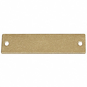 "Brass Blank Tag, Brass, Rectangle, 5/8"" Height, 100 PK"