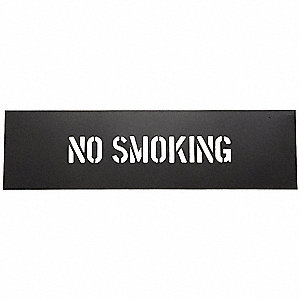 "Stencil, No Smoking, 2"", PVC, 1 EA"