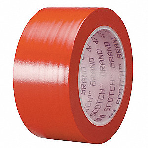 "Safety Warning Tape, Striped, Continuous Roll, 2"" Width, 1 EA"