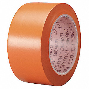 "Safety Warning Tape, Striped, Roll, 2"" x 108 ft., 1 EA"