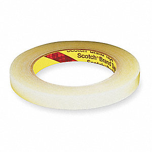 "UPVC Film Tape, Rubber Adhesive, 2.40 mil Thick, 1/2"" X 72 yd., Clear, 1 EA"