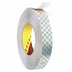 Double Sided Tape,Paper,1in,Off Wht,36yd