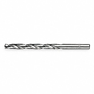Jobber Drill Bit, Size #7, High Speed Steel, Bright, List Number 150D