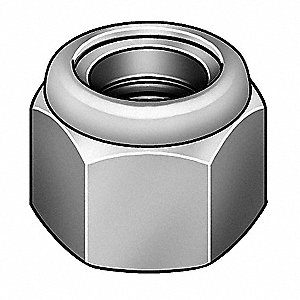 "1-3/4""-5 Nylon Insert Lock Nut, Plain Finish, Grade 2 Steel, Right Hand, IFI-100/107, EA1"