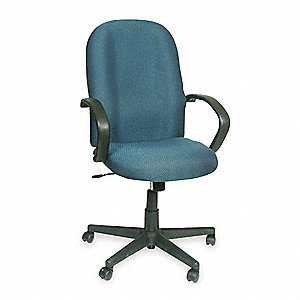 "Exec Chair,Fabric,Gray,17-22"" Seat Ht"