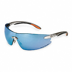 HD800 Scratch-Resistant Safety Glasses, Blue Mirror Lens Color