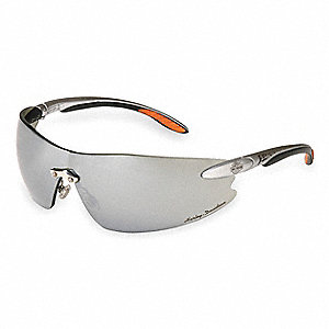 HD800 Scratch-Resistant Safety Glasses, Silver Mirror Lens Color