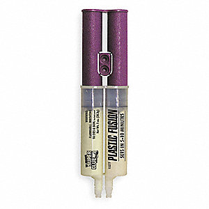 Epoxy Adhesive, 1.00 oz. Syringe, Yellow, Work Life: 5 to 10 min.