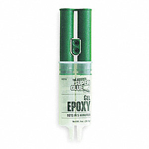 Epoxy Adhesive, 1.00 oz. Syringe, Off-White, Work Life: 4 to 6 min.