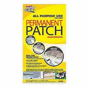 Fiberglass Patch,White,3x6 In,UV Cured